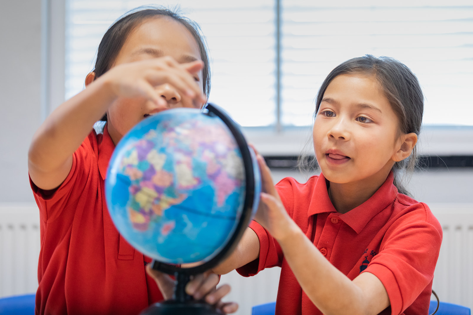Faraday pupils with globe